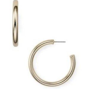 AQUA Classic Tube Hoop Earrings